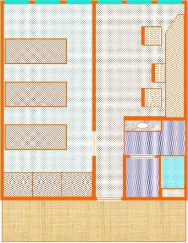Planta de um apartamento - CRUSP